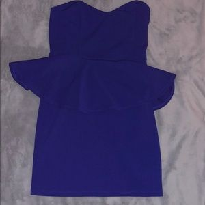 Lush royal blue peplum dress